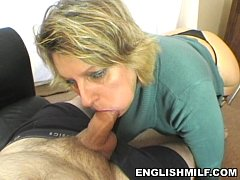 POV blowjob British milf