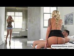 Busty milf Nina Elle crazy threesome sex