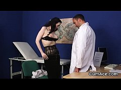 Kinky peach gets cum load on her face swallowin...
