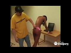 Naughty Ebony School Girl Spanked And Forced To...