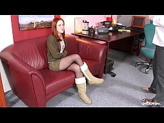 Totally awesome innocent redhead came to fake c...