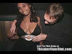 Hot Black Chick Freaky in a Porn Theater