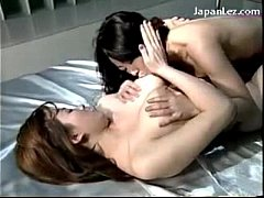 2 Busty Girls Kissing Passionately Rubbing Lick...