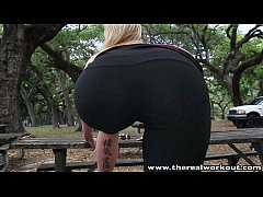 TheRealWorkout Fit blonde Lexi Davis pounded an...