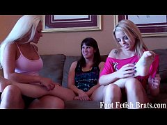 Leyla gets her feet worshiped by Courtney and B...