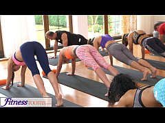 FitnessRooms Groups yoga session ends with a sw...