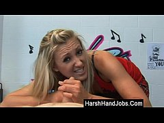 Harsh handjob from Angel Long