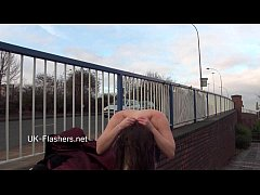 Naughty blonde babes public nudity and upskirt ...