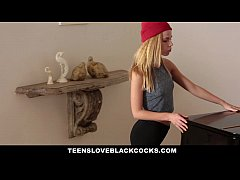 TeensLoveBlackCocks - Tight Blonde Drilled By A Big Black Dong