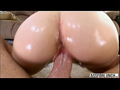 Hot blonde petite Miley May jumps on Mikes big ...
