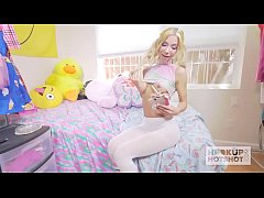 Gorgeous Tiny Blonde Gets the Best Rough Sex of...