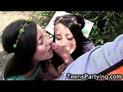 Teen Besties Share Cock to Save the Earth!