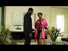 Ebony masseuse fuck deep