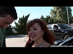 Old milf gets picked up from the parking lot an...