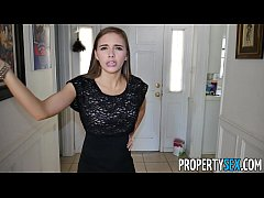 PropertySex - Hot petite real estate agent make...
