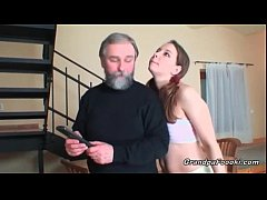 Super sexy babe sucks grandpa's cock