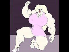 Female bodybuilding fbb bodybuilder bbw muscle art