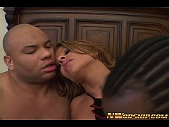 interracial dp anal threesome with horny latina