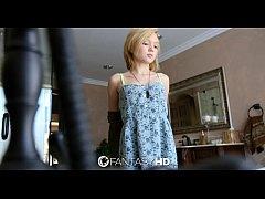 FantasyHD - Petite blonde Dakota Skye shaves he...