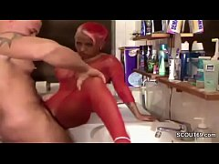 German Sister Caught in Bath and Seduce to Fuck...