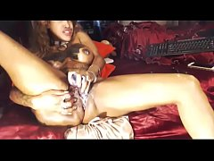 Nasty Black Cam Girl having the MOST Intense Or...