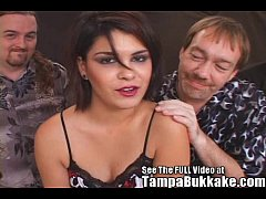 Becky's Tampa Bukkake Blowjob After Party!