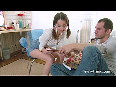 Flat chested lolita bitch anal fucked deep and ...