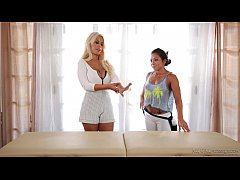 Girly time with Bridgette B and Morgan Lee - All Girl Massage