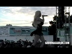 Sabrina Sabrok Celeb largest breast, Live Shows (collage)