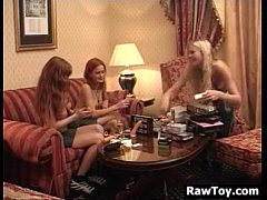 Three European Lesbians Masturbate With Toys