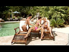 Fisting action in Poolside Frolick with Klada Nevena and Melanie