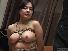 Subtitled Japanese CMNF BDSM nose hook bird cag...