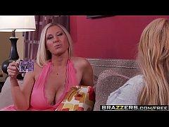 Brazzers - Mommy Got Boobs - Mommy Sandwich scene starring Devon Lee, Taylor Wane and Rocco Reed