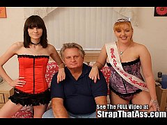 Hot Strap-On Princesses Pegging A Lil Bitch Of ...