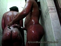 2 Big booty Africans go naughty in this amateur...