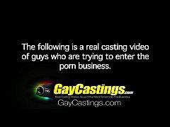 HD - GayCastings Amateur guy takes first big di...