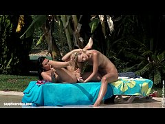Aneta and Debby have poolside lesbian action by Sapphic Erotica