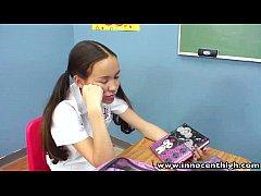 InnocentHigh Teacher banging skinny Asian teens...