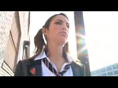 Schoolgirl gang bang
