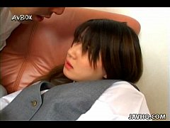 Japanese school girl Ami Matsuda blowjob and fa...