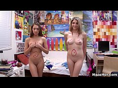 Lesbian Roommates Engage in Wild Hazing Rituals...