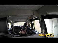 Fake Taxi Lady in stockings gets creampied