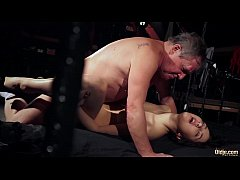 Old man is spoiling his dick with fresh young w...