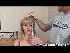 ExxxtraSmall Hot petite blonde teen Elizabeth Bentley fucks big cock