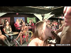 CFNM Party with cock sucking