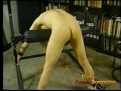 Horny dude with long hair enjoys being whipped ...