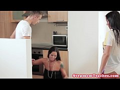 Cougar milf beauty gives teens a helpful hand