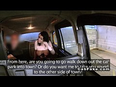 Huge tits amateur gets facial in fake taxi
