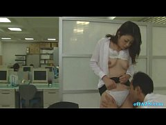 office lady getting her hairy pussy licked fingered in the office
