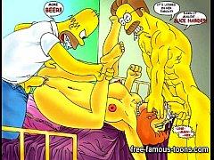 Simpsons vs Futurama hentai parody